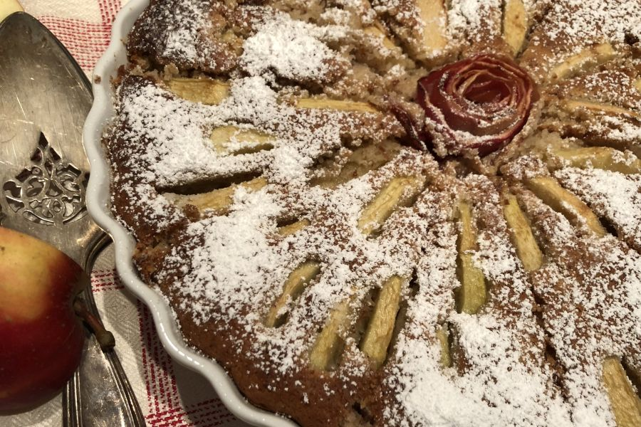 Veganer Apfelkuchen - Rezept | Gourmetköchin Petra Braun-Lichter