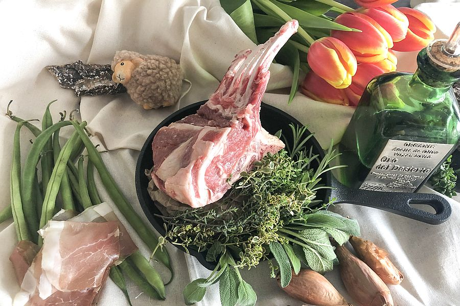 "Lammkotelett für Kochkurs ""Frühlingsmenü"" | Gourmetköchin Petra Braun-Lichter"