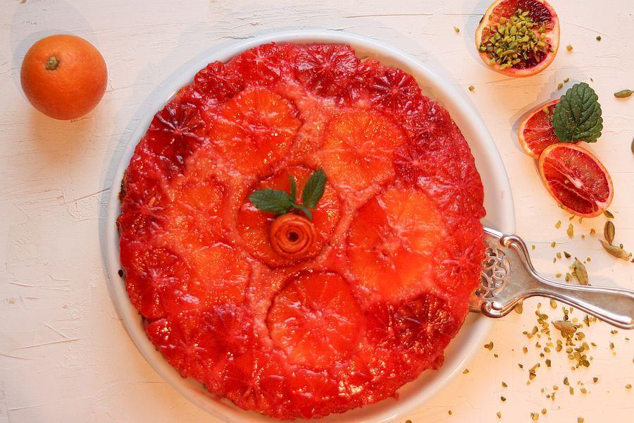 Upside-Down-Blutorangenkuchen - Rezeptbild | Gourmetköchin Petra Braun-Lichter