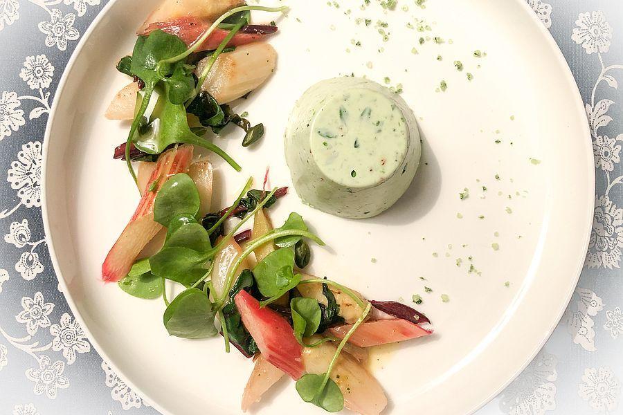 Waldmeister Joghurt-Panna cotta - Rezeptbild | Gourmetköchin Petra Braun-Lichter