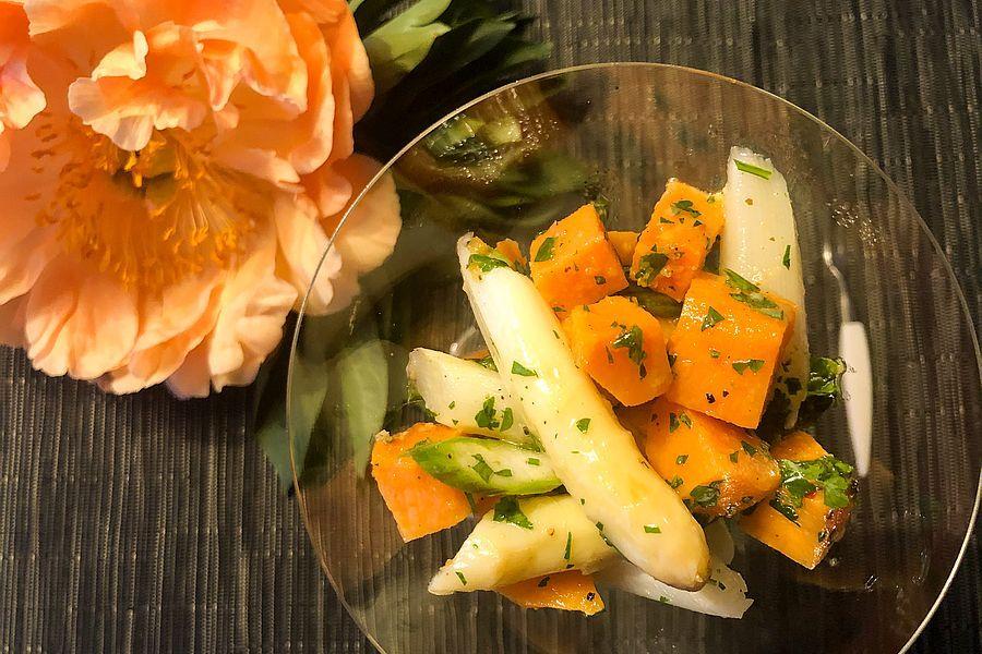 Spargel-Süßkartoffelcocktail - Rezeptbild | Gourmetköchin Petra Braun-Lichter
