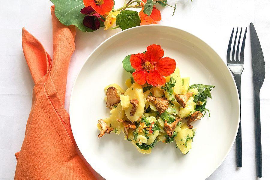 Kartoffelsalat mit Pfifferlingen - Rezeptbild | Gourmetköchin Petra Braun-Lichter