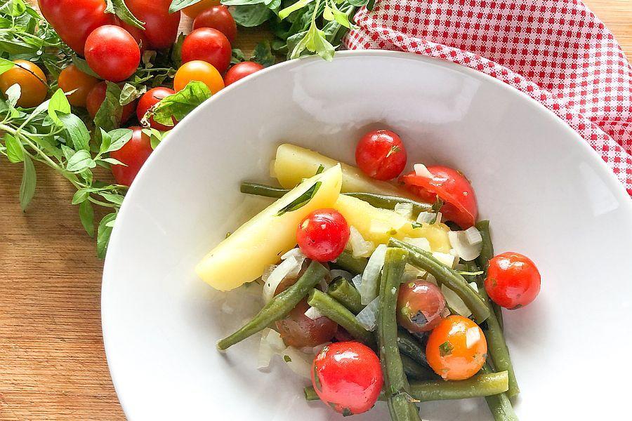 Kartoffelsalat mit Bohnen und Tomaten - Rezeptbild | Gourmetköchin Petra Braun-Lichter