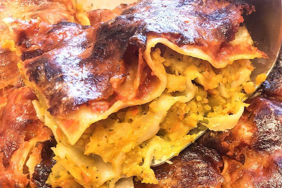 Vegetarische Kürbis-Lasagne - Rezeptbild | Gourmetköchin Petra Braun-Lichter