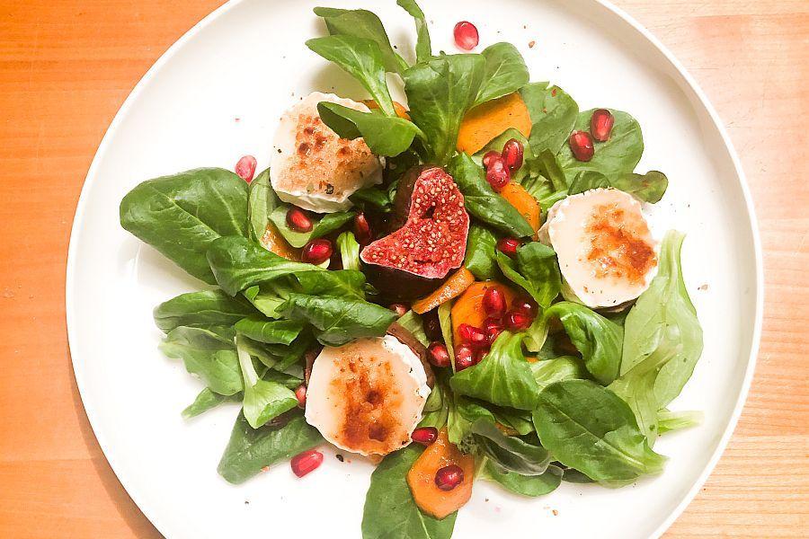 Feldsalat mit Kaki - Rezeptbild | Gourmetköchin Petra Braun-Lichter
