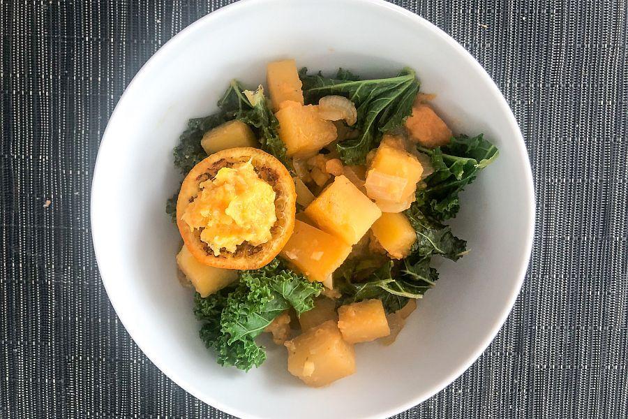 Grünkohl-Steckrüben-Curry - Rezeptbild | Gourmetköchin Petra Braun-Lichter